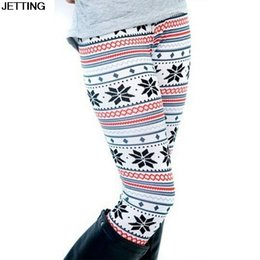 Wholesale Leggings Nordic - Brand New Women's Nordic Deer Snowflake Knitted Leggings Pants Elastic Lady's Leggings Multiple color