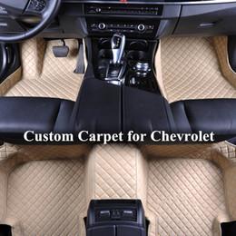 chevrolet-matte Rabatt Großhandelskundenspezifische Auto-Fußmatten für Chevrolet-Tagundnachtgleiche 2013 Malibu überschreiten 2014 Cruze chevy Cruze Selbstboden-Matten-Teppiche Automatten
