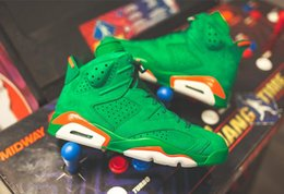 Wholesale High Products - New Product Air Retro 6 Gatorade Green Suede Men Basketball Shoes 6s Green Suede High Quality Men Sneaker best styles