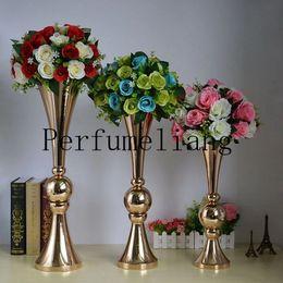 2019 suportes de chão de flores 44 cm 54 cm 65 cm de Ouro Chão de Prata Vaso De Flor Mariage Mesa Central de Metal Vaso De Flor Stands Para Casa Decoração Do Casamento suportes de chão de flores barato