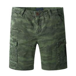 Imprimir Summer Style Casual Mens Camuflaje Cargo bolsillos Shorts Hombres Algodón Trabajo Ejército Verde Marca Shorts Ropa desde fabricantes