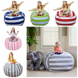 Wholesale large beans - 38 Inch Extra Large Stuffed Animal Storage Bean Bag Chair Portable Kids Clothes Toy Storage Bags 12pcs OOA4639