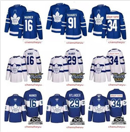 Wholesale hockey jersey toronto - 2018 Toronto Maple Leafs jersey 34 Auston 16 Mitch Marner 29 william nylander 91 John Tavares Hockey Jerseys