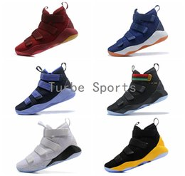 Wholesale limited edition sneakers man - 2018 New Jam King Soldiers 11 Limited Edition BHM Cavs Court General Mens Basketball Shoes Sports Finals Black Gold Purple Sneakers Size7-12