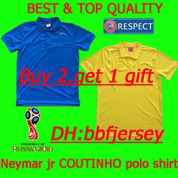Argentina Camiseta de polo de Tailandia 2018 camiseta nacional polo de Brasil JESUS COUTINHO FIRMINO JERSEY camisetas de fútbol de brasil Copa Mundial de Fútbol 2018 cheap polo jerseys Suministro