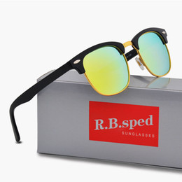 Wholesale Fashion Accessories Brands - Luxury Brand Designer Polarized Men women Sunglasses Semi-Rimless frame Driving glasses Polarizing Lenses with brown Case and accessories