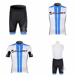 Wholesale giant road cycles - GIANT Cycling Short Sleeves jersey (bib) shorts Sleeveless Vest sets Hot bike mountain road ropa ciclismo multiple choice A41333