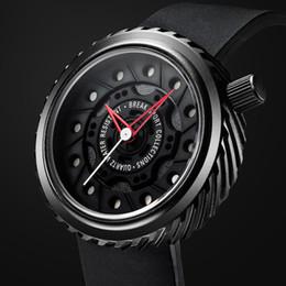 relogios de forma única Desconto Luxuoso carro esportivo Relógio de Quartzo pulseira de Silicone preto Homens militares Relógios Forma do pneu À Prova D 'Água de design exclusivo Esporte relógio de pulso estereoscop
