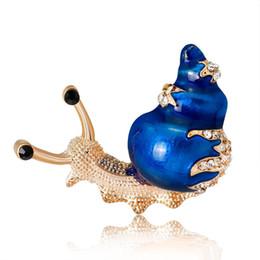 decorações de caracol Desconto Azul Laranja Caracóis Pin Broche Broches Emblema De Metal Esmalte Pin Broche Mulheres Jóias de Luxo Decoração de Festa de Casamento