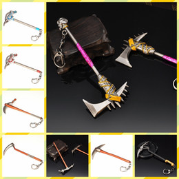 Wholesale toy axe wholesale - Game Fortnite Battle Royale 3D H6 Hammer Axe Weapon Keychains High Quality keyring Pendant Jewelry Fortnite Pickaxe Figure Toy MMA245