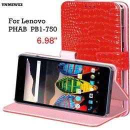 Lenovo phab on-line-Tablet case para lenovo phab pb1-750 6.98 '' luxo inteligente pc phone case capa para lenovo phab pb1-750m pb1-750n pb1-750p + filme