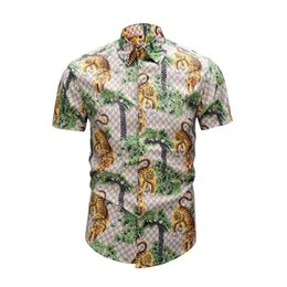 De calidad superior 2018 de los hombres 3D serpiente de tigre floral Print  Color Mixture Casual de lujo Harajuku Camisas de manga larga Medusa Camisas  de ... 065a9c5d7e6a1
