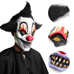 2019 maschere pagliaccio raccapriccianti Horror Stregone Clown Maschera Creepy Latex Mask Halloween Escape Dress Up Spettacolo dal vivo Spaventoso maschere pagliaccio raccapriccianti economici