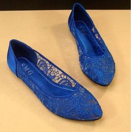 Élégant dentelle robe chaussures design matériel dentelle et satin grande taille dame plat chaussures parti soirée chaussures mariée ? partir de fabricateur