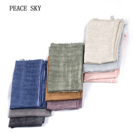 Wholesale Striped Cotton Scarves - Japanese Style Winter Scarf Cotton Blue And Black Striped Plaid long women's scarves shawl 2018 men scarf