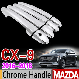 Wholesale Mazda Door Chrome - wholesale for Mazda CX-9 2016 2017 2018 Luxurious Chrome Door Handle Cover Trim Set CX9 CX 9 MK2 Car Accessories Stickers Car Styling