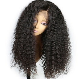 cheap kinky curly afro wigs Coupons - Wholesale Cheap Glueless Lace Front Synthetic Wigs For Black Women Brazilian Afro Kinky Curly Wig Heat Resistant Pre Plucked Bleached Knots