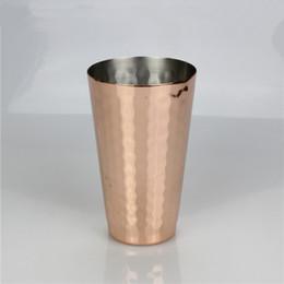 2019 tazze di frutta in acciaio inox 350 ml 12 once tazza di rame martellato acciaio inox placcato Mosca muli tazze di succo di frutta birra liquore tazza di acqua