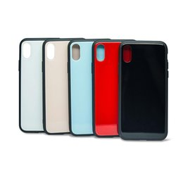 Wholesale hybrid house - Tempered Glass Case for iPhone X Luxury Hybrid Back Cover Shockproof Sleeve Hard Housing for iPhone 6S