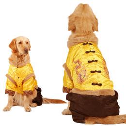 costume de chien Promotion Vêtements pour chiens Costume Tang Grand Chien Golden Samoye Alaska Grand Chien Automne Hiver Pet Chiot Coton rembourré du Nouvel An Vêtements Manteaux pour Animaux de compagnie