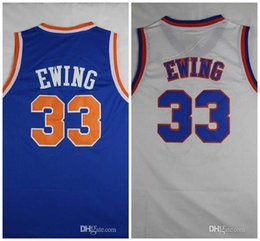 Wholesale men sleeveless tops - 33 Patrick Ewing Jersey The Hoya Destroya Basketball Stitched Top Quality Cheap