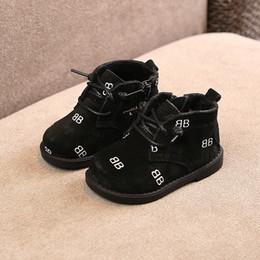 031e30d9301c1 Mode enfants bottes hiver nouveau fond souple bébé filles en cuir véritable  0-1 ans garçons chauffe-pieds chaussures plates enfant