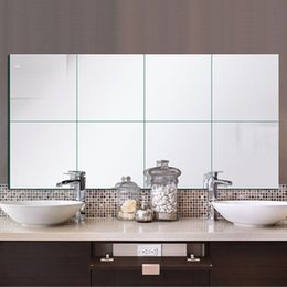 9Pcs/set 14.8x14.8cm 3D Square Mirror Tile Wall Stickers Decal Home Room Decoration DIY For Living Room Porch от Поставщики влагостойкие обои кухня