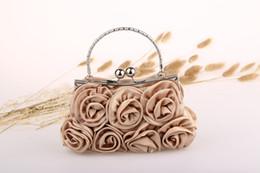 sac à main en cuir fleur en soirée Promotion 2015 se sont précipités nouveau solide sac mini (20cm) unique Hasp Wristlets femmes en cuir sacs à main sac diamant satin fleur soir fourre-tout