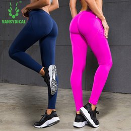 e04ac65250e VANSYDICAL Casual Leggings Women Pants Exercise Fitness Workout Leggings  Trousers Slim Compression Pants Sexy Hip Push Up S18101502