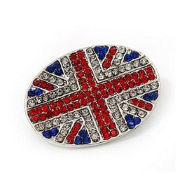 2019 pin 3cm Mujeres Hombres The Union Jack Rhinestone Broche 4 * 3 cm traje de la bandera nacional solapa Pin accesorios de joyería de moda con envío rápido rebajas pin 3cm