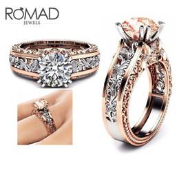 Taglia 5 a 12 anelli di nozze per le donne in acciaio inox Champagne rotonda Zircone fascino uomini anello 2018 nuovi gioielli di fidanzamento maschile G5 da pietra verde zaffiro fornitori