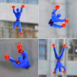 10 adet / grup Komik Yenilik ürünleri Örümcek-adam oyuncak balçık Viskoz Tırmanma Spiderman Sıkmak Takla kötü adam komik araçlar oyuncaklar nereden oyuncaklar yoyo tedarikçiler