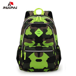 детские камуфлированные рюкзаки Скидка RUIPAI  Camouflage Kid Backpack Bag School Bags Travel Backpack Bags For Boy And Girl Shoulder Bag Rucksack Mochila Escolar