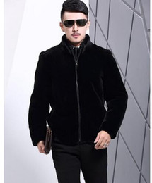 Wholesale Fashion News Men - Original news Winter autumn thicken thermal leather jackets men casual mens faux fur coats overcoat stand collar black fashion plus size 3XL