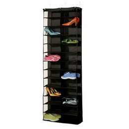 Wholesale Hanging Storage Space Bag - Foldable Shoes Storage Bag 26 Pockets Closet Hanging Shoes Bags Save Space Organizer Underpants Storage Bag Home Organzier