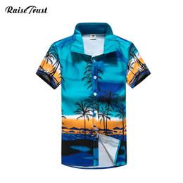 Argentina ropa de hombres 2018 camisas hawaianas camisa de los hombres de impresión floral de manga corta Beach hombre Camisas Camisa Masculina overheiden heren M-5XL Y1892102 supplier hawaiian beach clothes Suministro