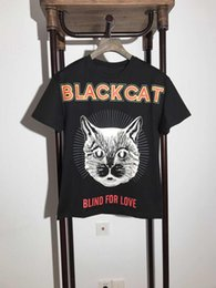 Wholesale Mens New Fashion Clothes - Summer Mens T Shirt 2018 new arrival Fashion Cats printed letters back T Shirt Mens Clothing Short Sleeve Casual Mens Top Tee Shirt
