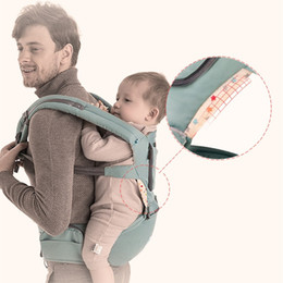 Wholesale Pink Baby Carriers - 360 ergonomic Baby Carrier organice New Four Position 360 Multifunction Infant Carrier Backpack Kid Carriage Toddler Sling Wrap