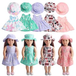 Wholesale Girls Fitted Skirts - 15 Colors Fashion Doll Dress Fit For 18 Inch American Girl Doll Skirt Clothes Toys Accessories Dresses Collection