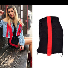 Wholesale pencil skirts dresses office - Wholesale Free Shipping Summer Shorts Pencil Skirts For Women Mujer Denim High Waist Office Dress Black Skirt