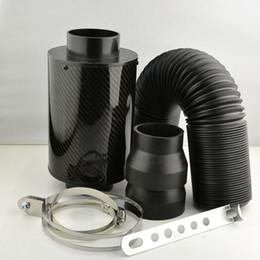 Wholesale Carbon Fiber Air Filter - Universal Racing Air Filter Box Carbon Fiber Cold Feed Induction Kit Air Intake Kit Without Fan k8-kl003