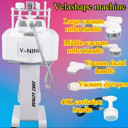 Wholesale Ultrasound Massage - velashape vacuum machine vacuum rf infrared roller massage slim ultrasound and photon fat removal cavitation ultrasound therapy device