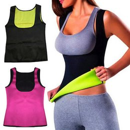 Wholesale Black Body Shapers - Women Hot Neoprene Body Shapers Slimming Waist Slim Sportswear Vest Underbust Plus Size S M L XL XXL Black Rose Blue Purple
