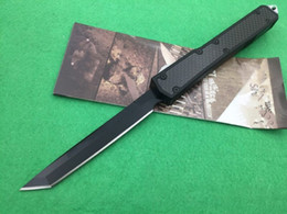 Argentina 8 modelos de alta calidad Makora II 106 D2 blade T6-6061 negro mango de fibra de cartón doble acción automática cuchillo plegable de regalo de Navidad cheap folding knife carbon blade Suministro