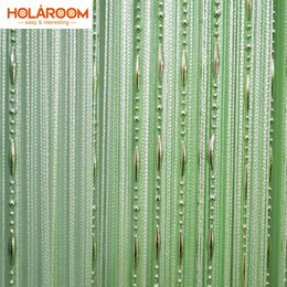 Wholesale white interior doors - 12 Color Beads Line Curtain Modern Yarn Dyed Curtains For Home Living Room Door Hotel Cafe Interior Decoration Solid Curtain