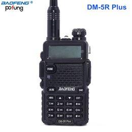 Wholesale Vhf Uhf Transceivers - Baofeng DM-5R plus Walkie Taklie Dual Band 2000mAh DMR Digital Ham Transceiver 1W 5W VHF UHF 136-174 400-480 MHz Two Way Radio