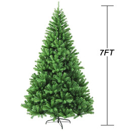 Wholesale lighting decoration products - fireproofing Premium Hinged Artificial Christmas Tree W 865 Tips Full Christmas decorations Tree Christmas products