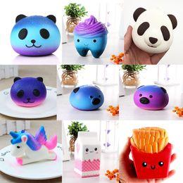 Bananas de juguete online-Squishy Toys Panda Peach Banana Cake Squishes Suave Crecimiento Unicornio Jumbo Kawaii Teléfono Correa Squishi Squeeze Toy