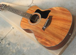 Wholesale Pickup Top - Factory Custom 41'' Acoustic Guitar with Pickup,Mahogany Solid Top,Black Pickguard,Black Binding,Can Add Pickups,can be Customized