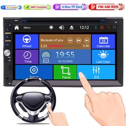 Wholesale Radio Multimedia - Car Stereo Bluetooth Double 2 Din Radio In Dash Car Multimedia Player with 7'' Full-Touch Screen Car DVD CD Player Head Unit with